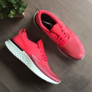Nike Odyssey React 2 Flyknit Red Running Sneakers